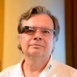 David Cardinal, sporting a lovely Google Glass