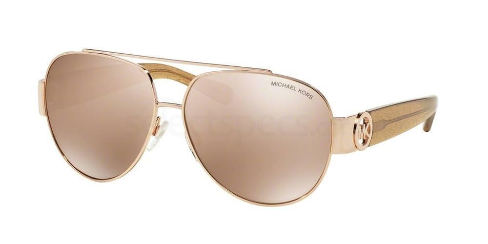 rose gold mirrored sunglasses michael kors