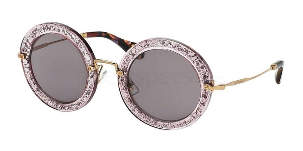 oval shape glitter sunglasses Miu Miu