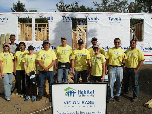 Vision-Ease Lens volunteers donated 480 volunteer hours to Twin Cities Habitat for Humanity, to help construct a new, handicap-accessible home in Columbia Heights, Minnesota.