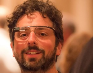 Google Co-Founder wearing Project Glass