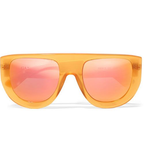 Ganni Orange Mirrored Sunglasses