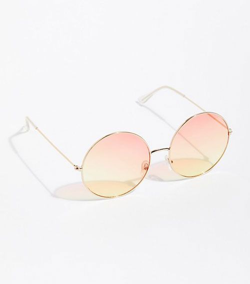 Round Orange Lens Sunglasses