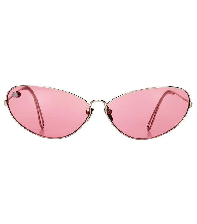 Poms Ello Silver & Rose Sunglasses