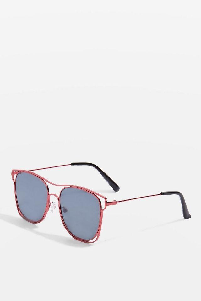 wire sunglasses topshop
