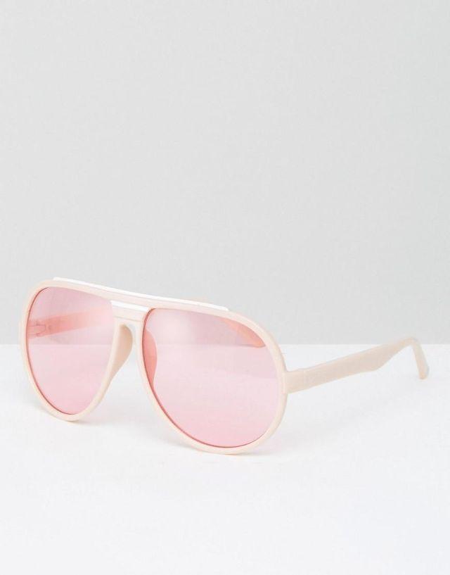 Oversized Pink Frame & Lens Aviator Sunglasses